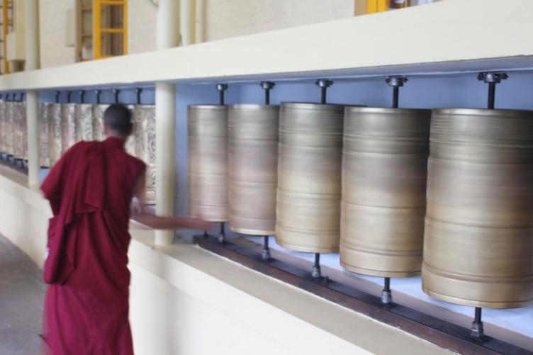 Monk at Dalai Lama Temple